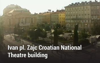 Ivan pl.Zajc Croatian National Theatre building