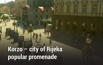 Korzo – city of Rijeka popular promenade