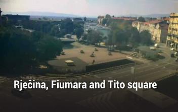 Rječina, Fiumara and Tito square