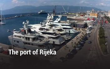 The port of Rijeka