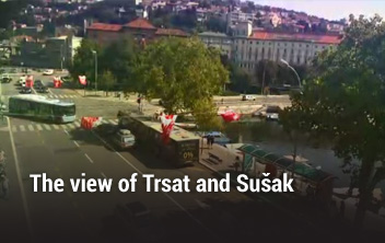 The view of Trsat and Sušak