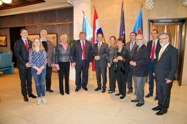 Prijam za izaslanstvo Neussa na čelu s novim gradonačelnikom Reinerom Breuerom