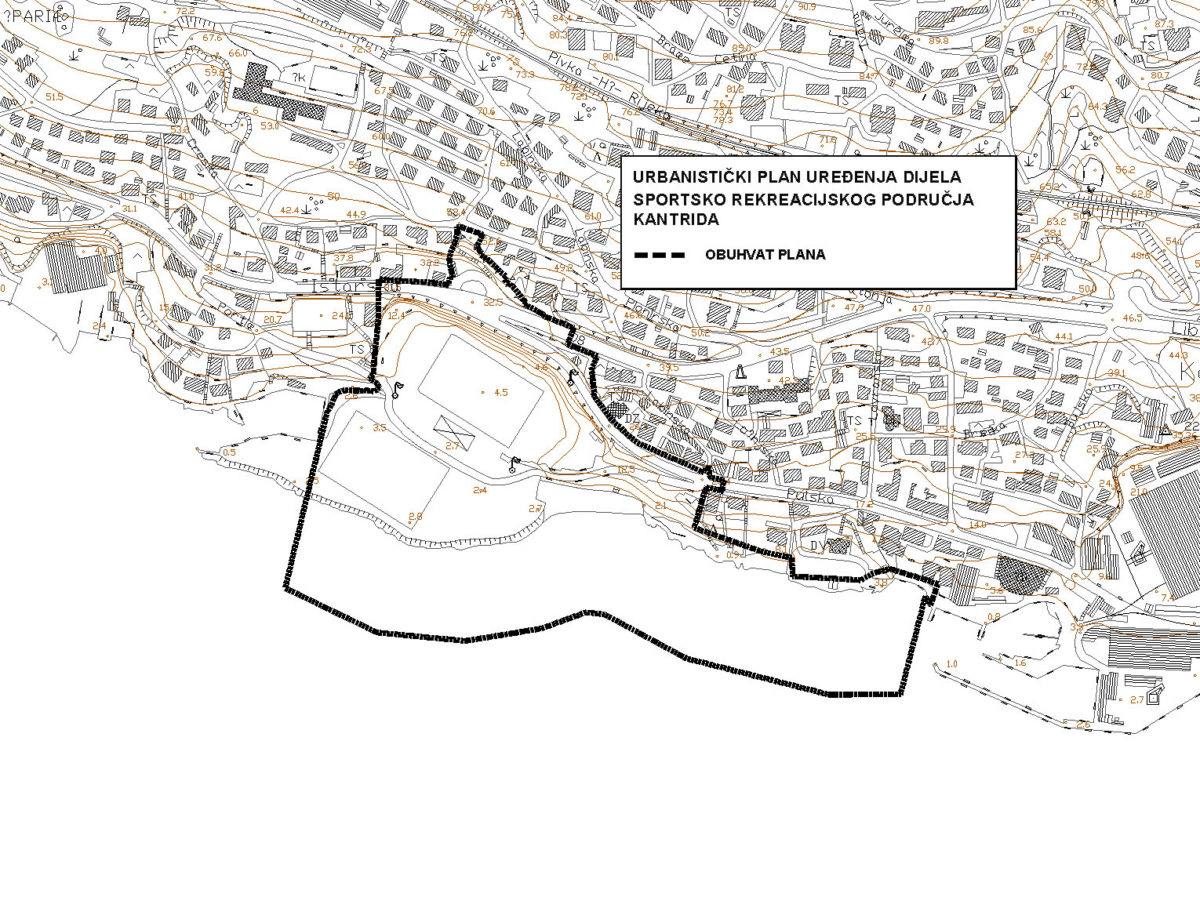 UPU dijela sportskog i rekreacijskog područja Kantrida