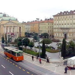 "Theatre park and National theatre ""Ivana pl. Zajca"""