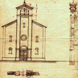 Nacrt crkve iz 1909. godine
