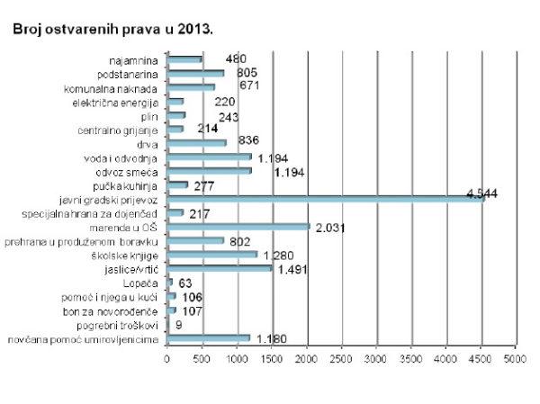 Ostvarena socijalna prava 2013
