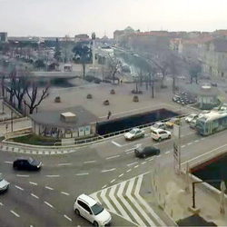 Titov square and Fiumara street
