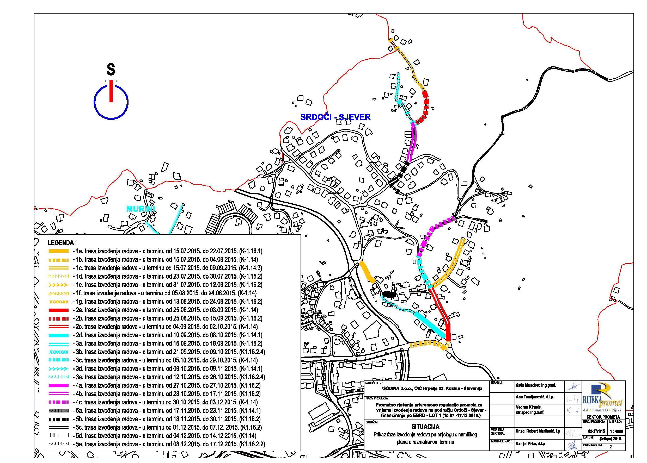 Izvođenje radova na gradnji kanalizacije na području MO Srdoči 3