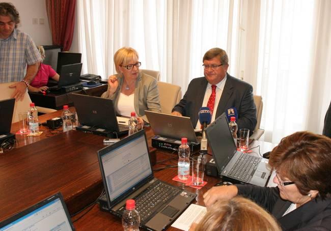 Ksenija Linić, Vojko Obersnel, 60. gradonačelnikov kolegij rujan 2011.