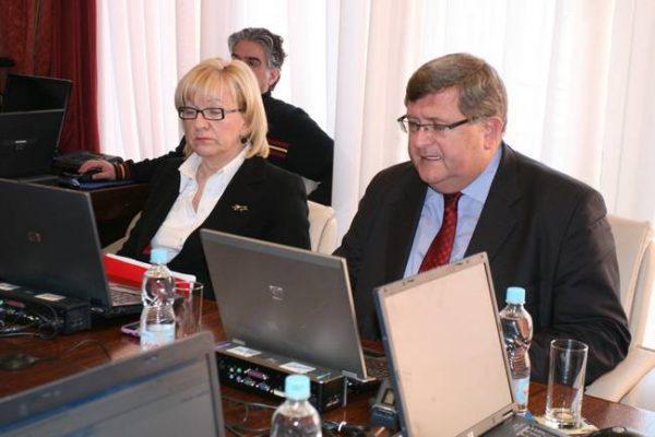 Ksenija Linic i Vojko Obersnel, 44. gradonačelnikov kolegij prosinac 2010.