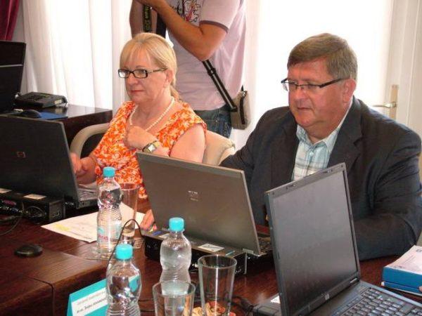 Ksenija Linic i Vojko Obersnel, 32. gradonačelnikov kolegij lipanj 2010.,