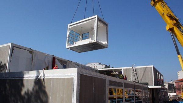 Novi vrtić se gradi na mjestu starog vrtića modularnom gradnjom od čeličnih polugotovih elemenata
