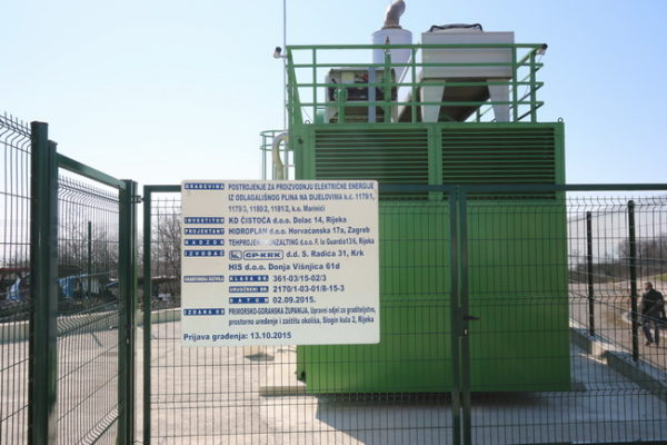 Postrojenje za proizvodnju električne energije iz odlagališnog plina