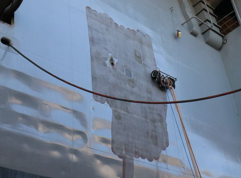 Najnovija robotska UHPW tehnologija za obradu brodskih površina vodom