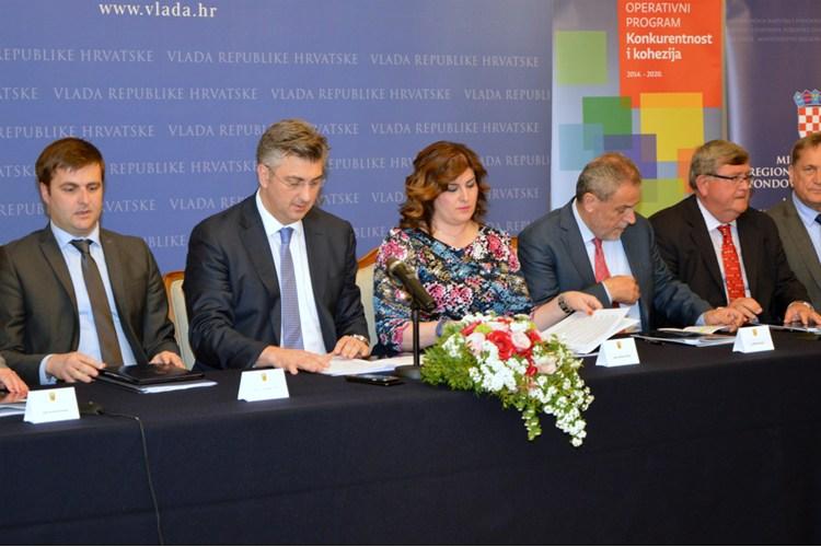 Potpis sporazuma za Urbanu aglomeraciju - Foto Vlada RH