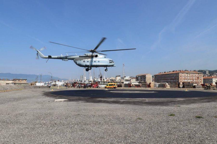 Slijetanje hitne helikopterske medicinske pomoći
