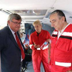 Unutrašnjost medicinskog helikoptera