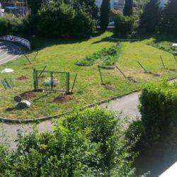 Postavljanje ograde od pletive mreže i vratašca oko budućeg vrta