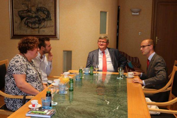 Prijem za zamjenika gradonačelnika Linza Detlefa Wimmera
