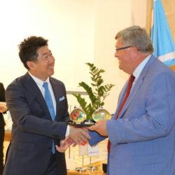 Gradonačelnik Obersnel i gradonačelnik Fukuda razmijenili su darove