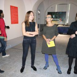 Autorice izložbe Ksenija Orelj i Nataša Šuković i Nikolina Radić Štivić