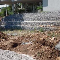 Dvorište DV Galeb prije uređenja