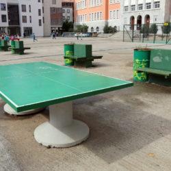 Na trgu je moguće igrati i stolni tenis