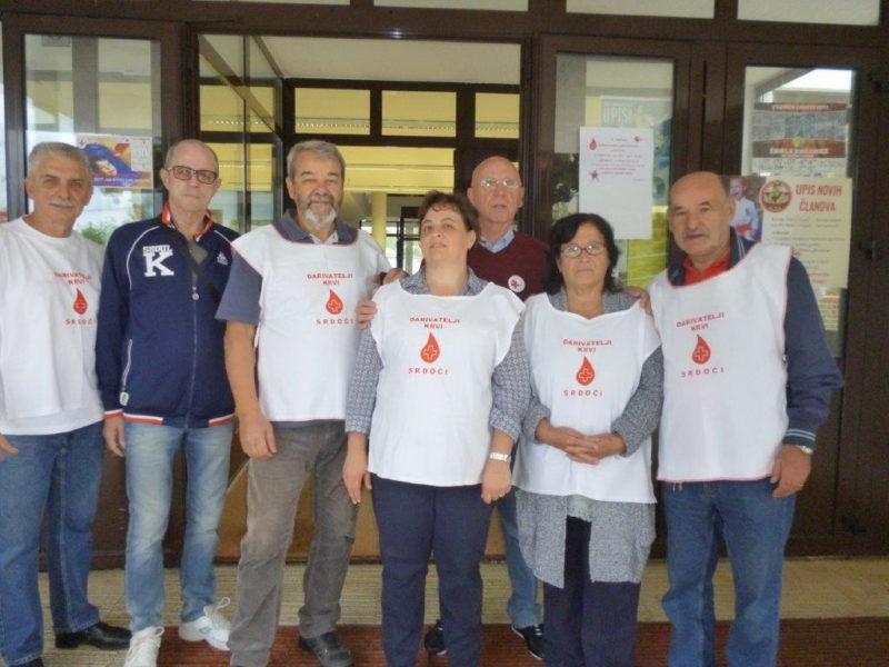 Organizatori akcije darivanja krvi na Srdočima