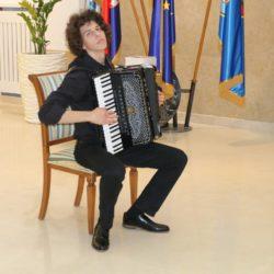 Dino Đerić Baričević, učenik II. razreda Srednje glazbene škole