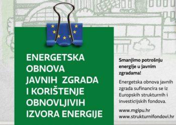 Energetska obnova zgrada i korištenje obnovljivih izvora energije u javnim ustanovama koje obavljaju djelatnost odgoja i obrazovanja