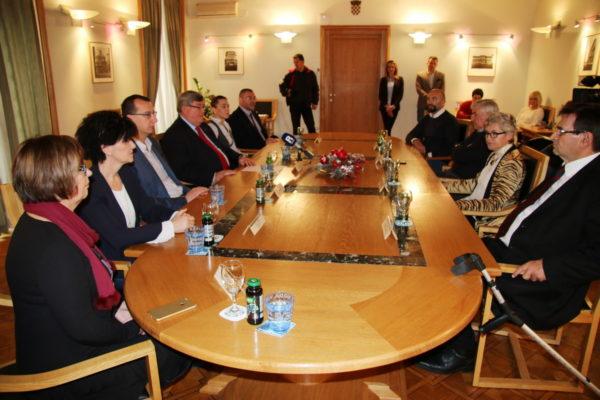Na prijamu su bili Samir Barać, Predrag Sloboda, Biljana Francišković i Miljenko Mišljenović