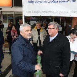 Mile Opačić pedsjednik Vijeća srpske nacionalne manjine za Grad Rijeku i gradonačelnik Vojko Obersnel