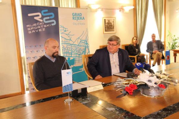 Direktor RSS-a Samir Barać i gradonačelnik Rijeke Vojko Obersnel