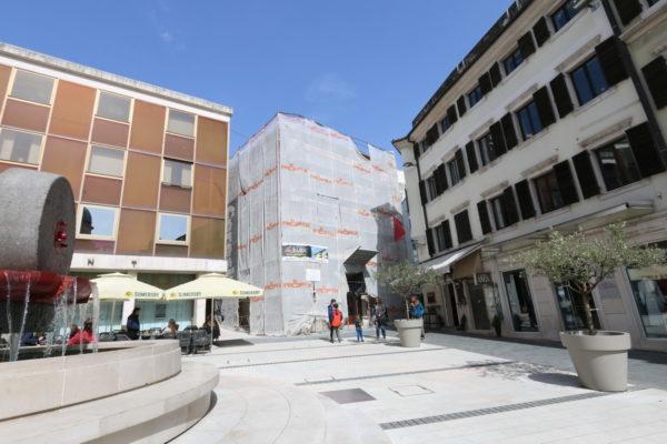 Obnova pročelja sredstvima spomeničke rente - trenutno radovi na zgradi u Medulićevoj 1