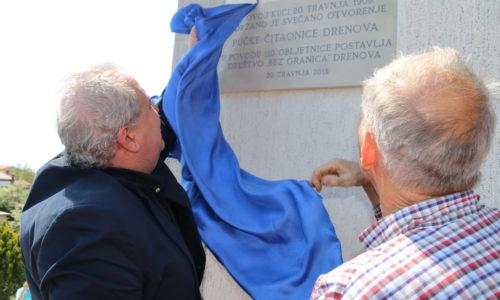 Otkrivena spomen-ploča povodom 110. obljetnice otvorenja Pučke čitaonice Drenova