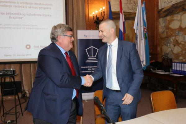 Važnost izgradnje nove željezničke infrastrukture i njenu provedbu snažno podupire Grad Rijeka - Vojko Obersnel i lvan Kršić
