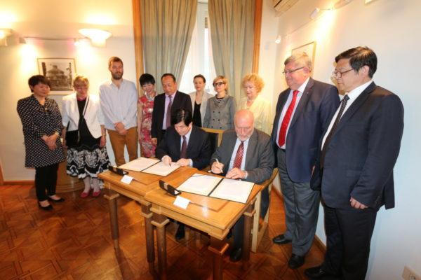 Potpisan Sporazum o suradnji između Kineske federacije i Udruge hrvatsko-kineskog prijateljstva