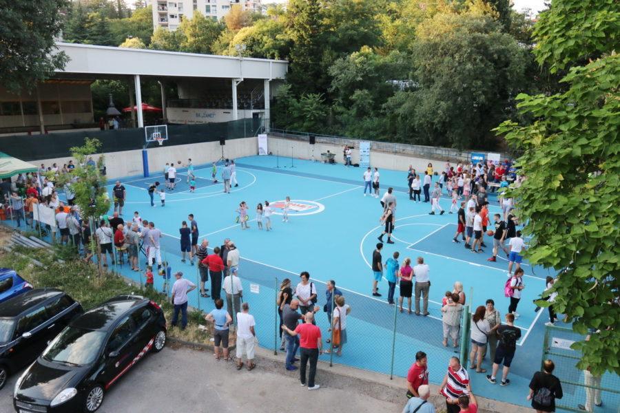 Otvorenje obnovljenog košarkaškog igrališta Zamet