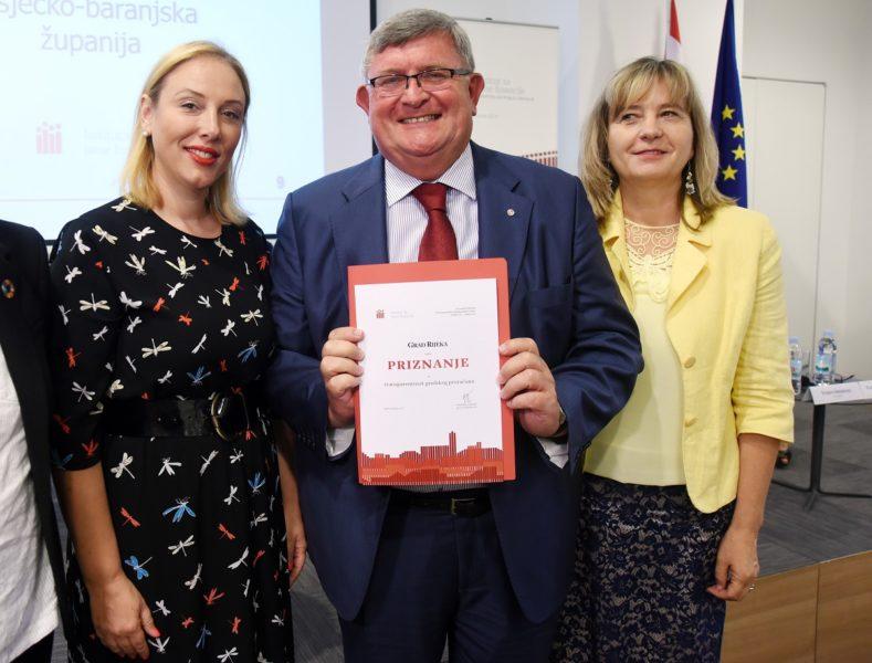 Gradu Rijeci i ove godine priznanje za transparentnost proračuna