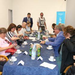 Radni sastanak sa županom Zlatkom Komadinom i gradonačelnikom Vojkom Obersnelom te ravnateljima gradskih ustanova i direktoricom EPK 2020
