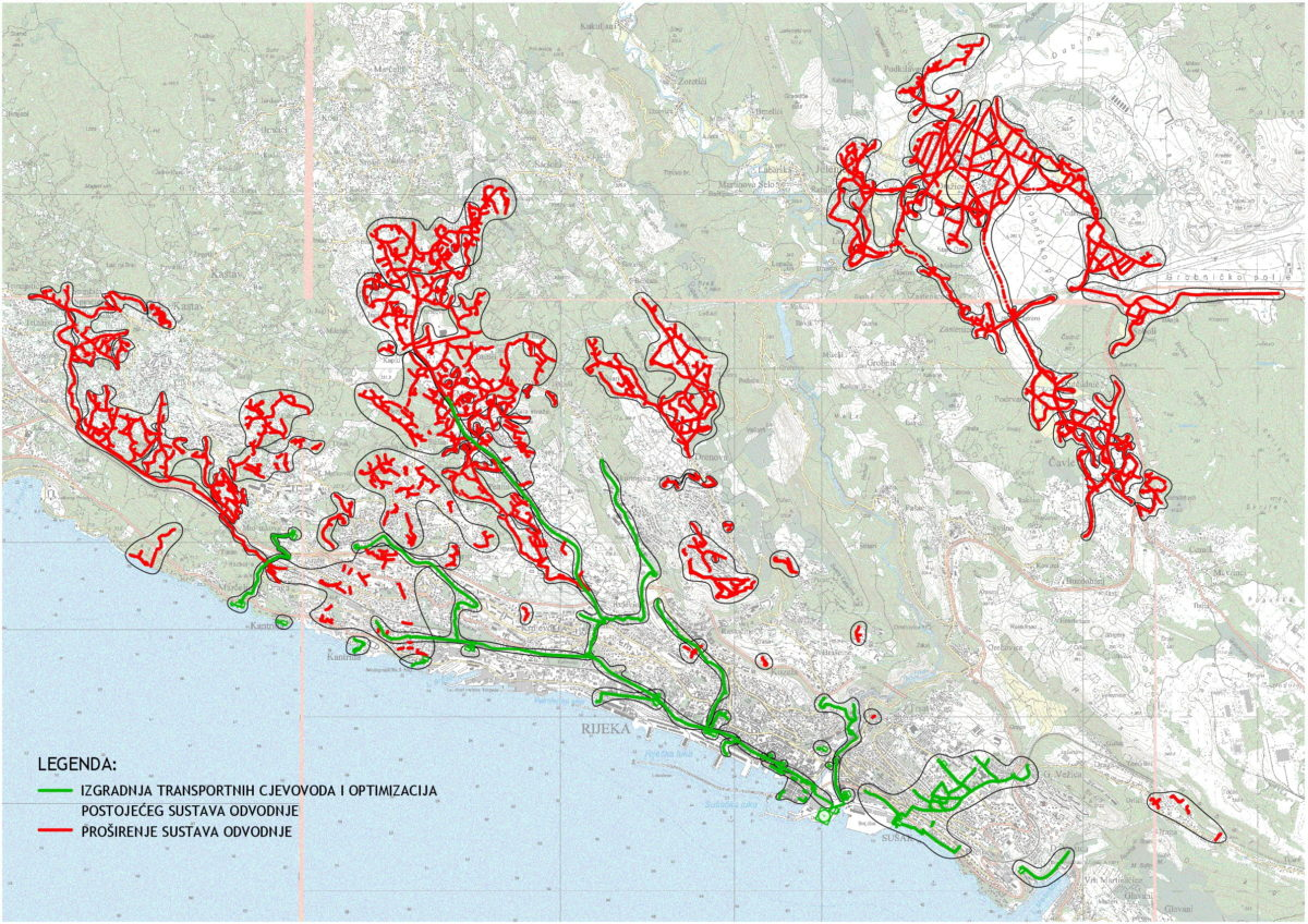 Aglomeracija Rijeka - prikaz trasa