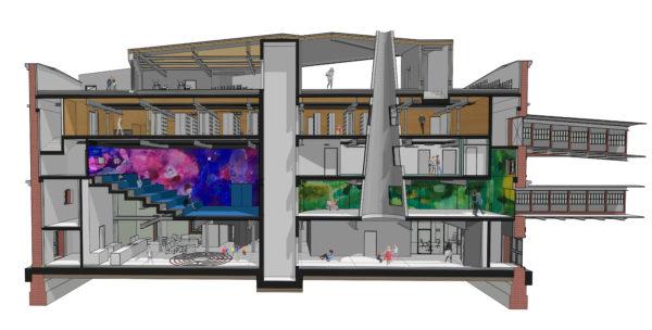 Dječja kuća - perspektivni presjek
