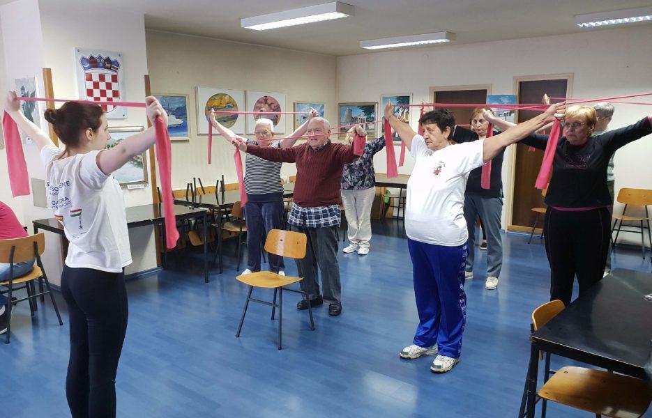 Vježbanje u MO Mlaka