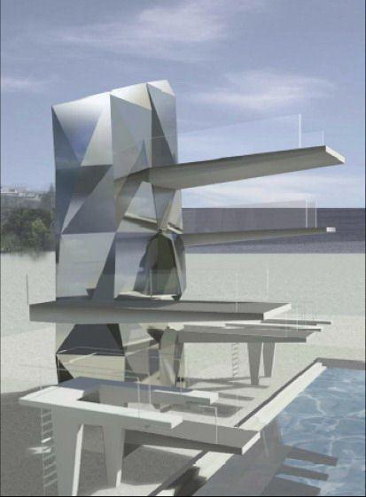 Vizualizacija bazena za skokove u vodu