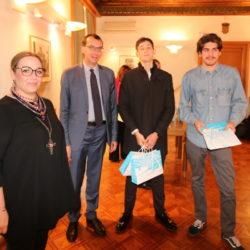 Pročelnica Jana Sertić, zamjenik gradonačelnika Marko Filipović i učenici Dan Sertić i Cameron Marlon Susman