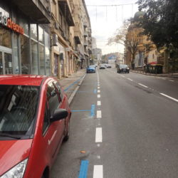 Iscrtana parkirališta u Strossmayerovoj
