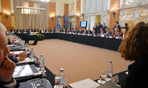 Predsjednik i članovi Vlade u Rijeci sa županima, predstavnicima Udruge gradova i Udruge općina