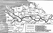 Mapa nekadašnje podjele Istre