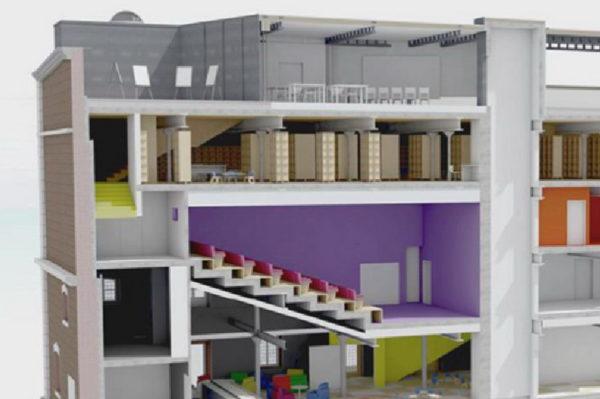 Presjek zgrade buduće Dječje kuće