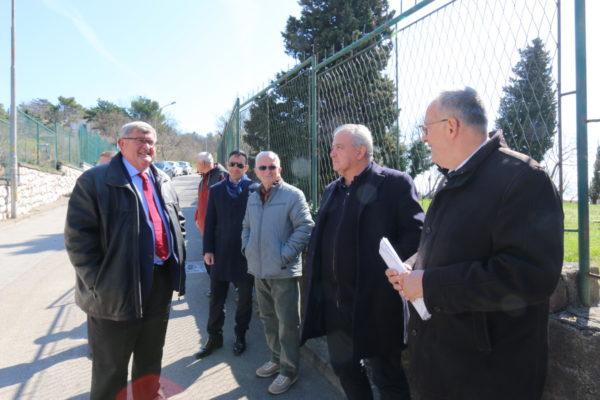 Vojko Obersnel, Anton Linić, Nikola Ivaniš i Andrej Marochini